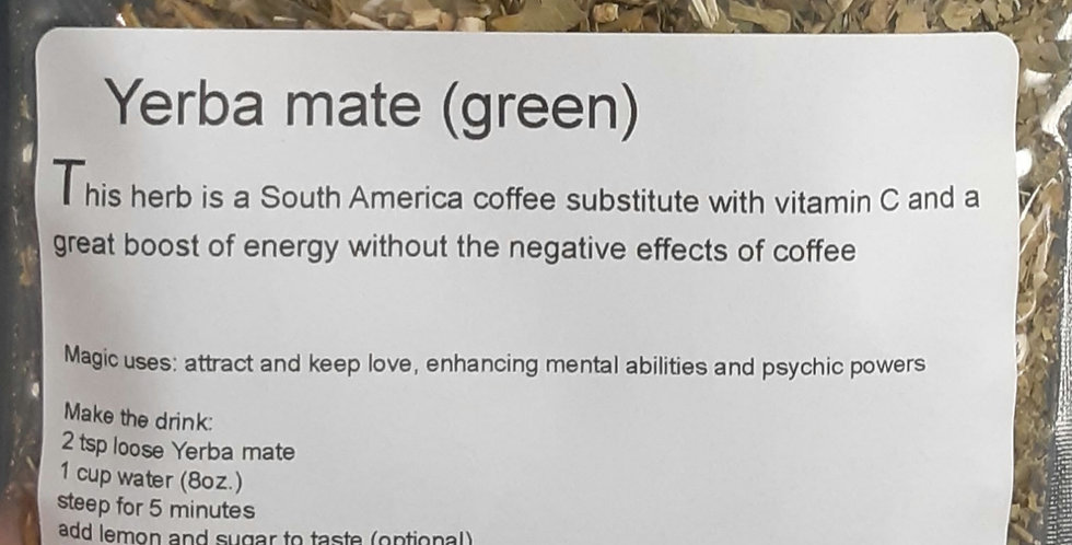 Yerba mate (green)