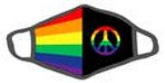 LGBTQ/ Peace face mask