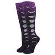 Moon phases kneehigh sock