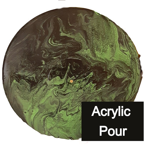 Acrylic Pour Green and black