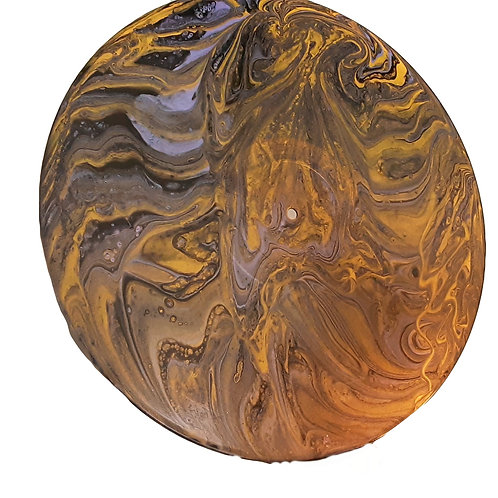 Gold and purple Acrylic Pour