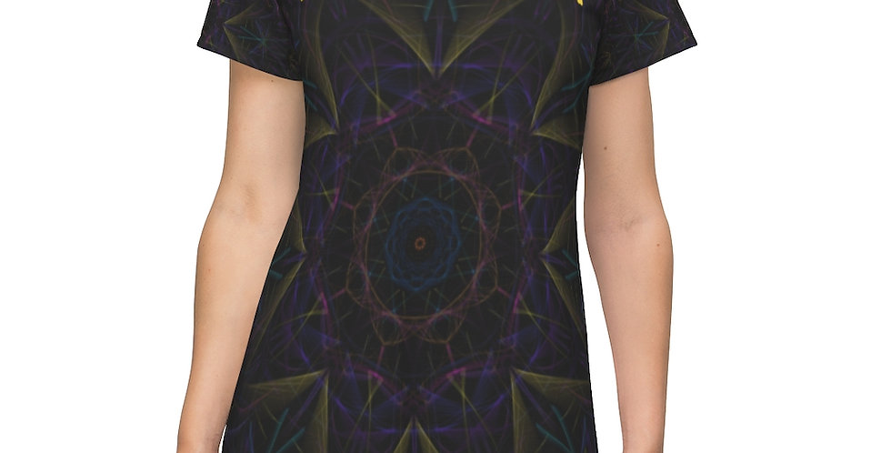 All Over Print T-Shirt Dress - Be the Magick (with wording)