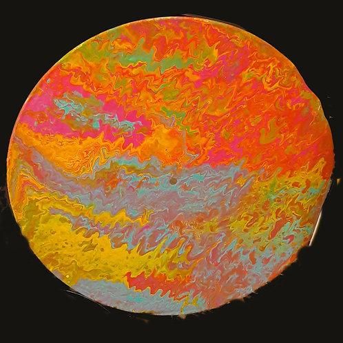 Neon Colors Acrylic Pour