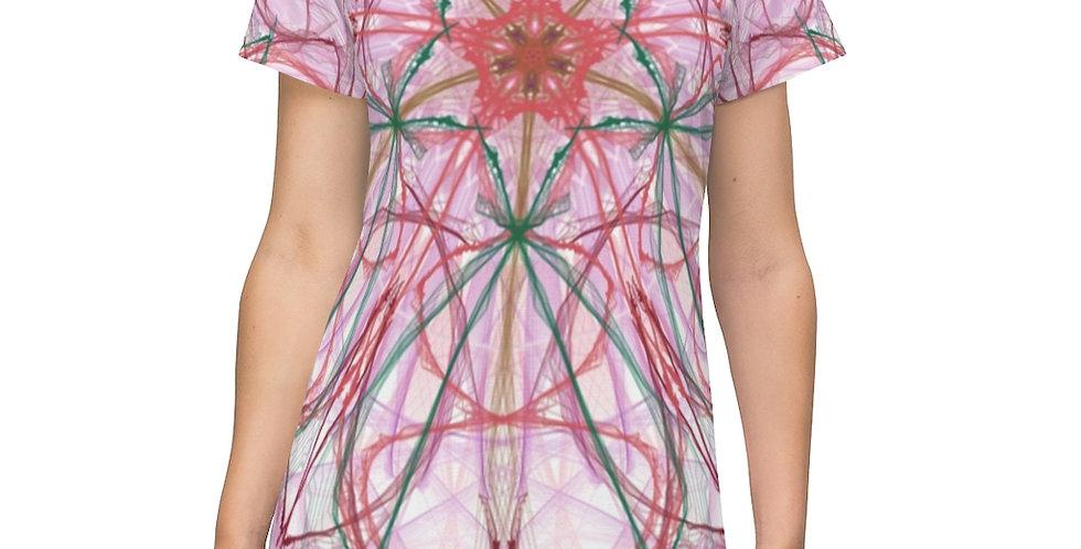 All Over Print T-Shirt Dress- Holiday Cookie Mandala