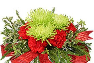 Nature's Christmas Gift Flower Arrangement