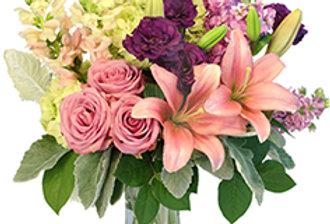 Lily's Afterglow Flower Arrangement