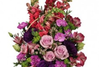 Home Sweet Home Flower Basket