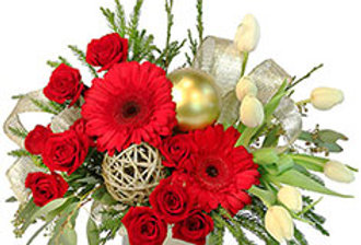 Festive Evergreen Flower Bouquet