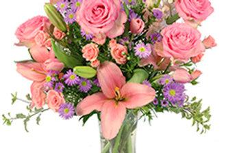 Rose's Blush Vase Arrangement