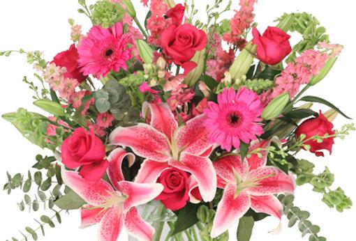 Pink Explosion Vase Arrangement