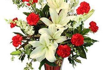 Starry Holiday Flower Arrangement