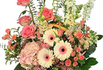 Blushing Sweetness Basket Arrangement