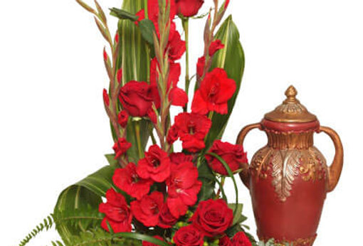 Red Remembrance Cremation Flowers
