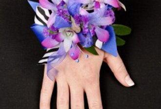 POSH PURPLE ORCHIDS Prom Corsage