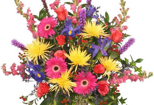 COLORFUL CONDOLENCES TRIBUTE Funeral Flowers
