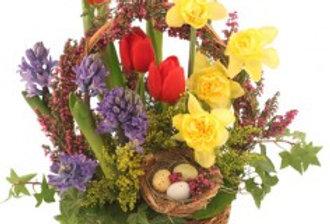 It's Finally Spring! Basket Arrangement