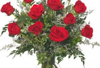 Classic Dozen Roses Red Rose Arrangement