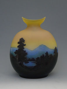 風景文花瓶