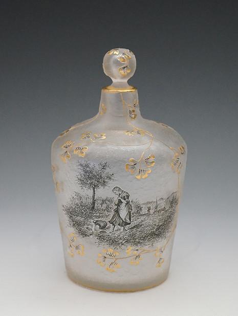 風景文香水瓶