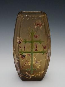 アザミとロレーヌ十字文花瓶