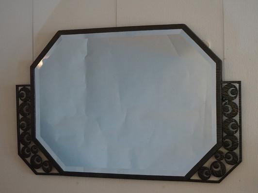 アール・デコ鉄製鏡 H:62 W:100.jpg