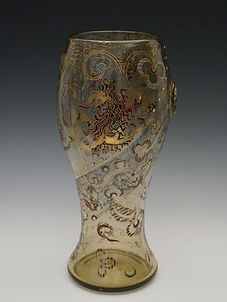 ガレ 獅子文花瓶 H:31.5HP.jpg