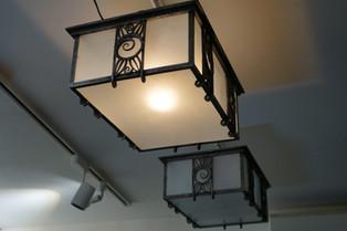 P.キス アール・デコ鉄製直付天井灯