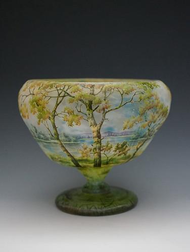 ドーム 風景文花瓶 H:15.jpg