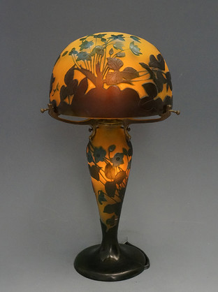 ガレ 花文ランプ