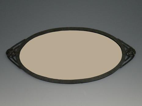 アール・デコ鉄製鏡(楕円)