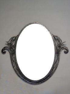 アール・デコ鉄製鏡