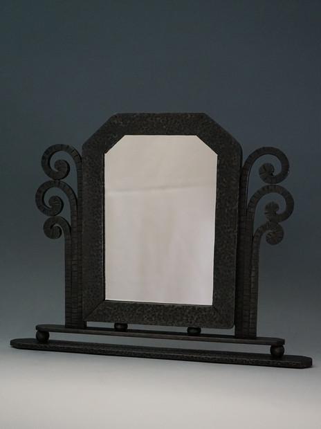 アール・デコ鉄製卓上鏡