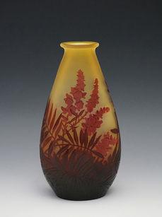 ルピナス文花瓶