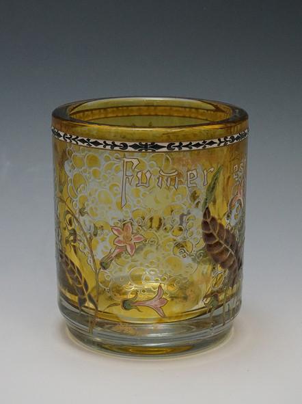 ガレ たばこの花文花瓶3.jpg