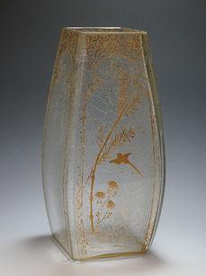 バカラ 花鳥文花瓶