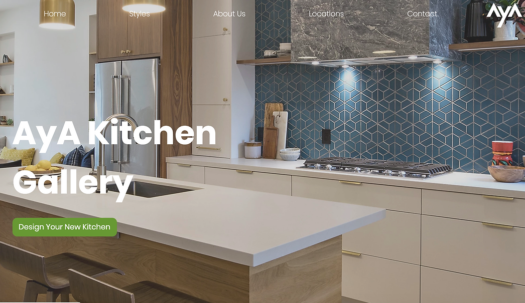 AyA Kitchen Gallery Landing page for the campagin implementatio