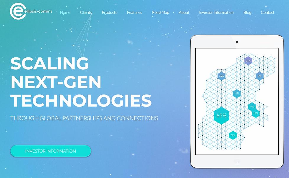 Ellipsiz Communications Website: Created by Dreamline Digita