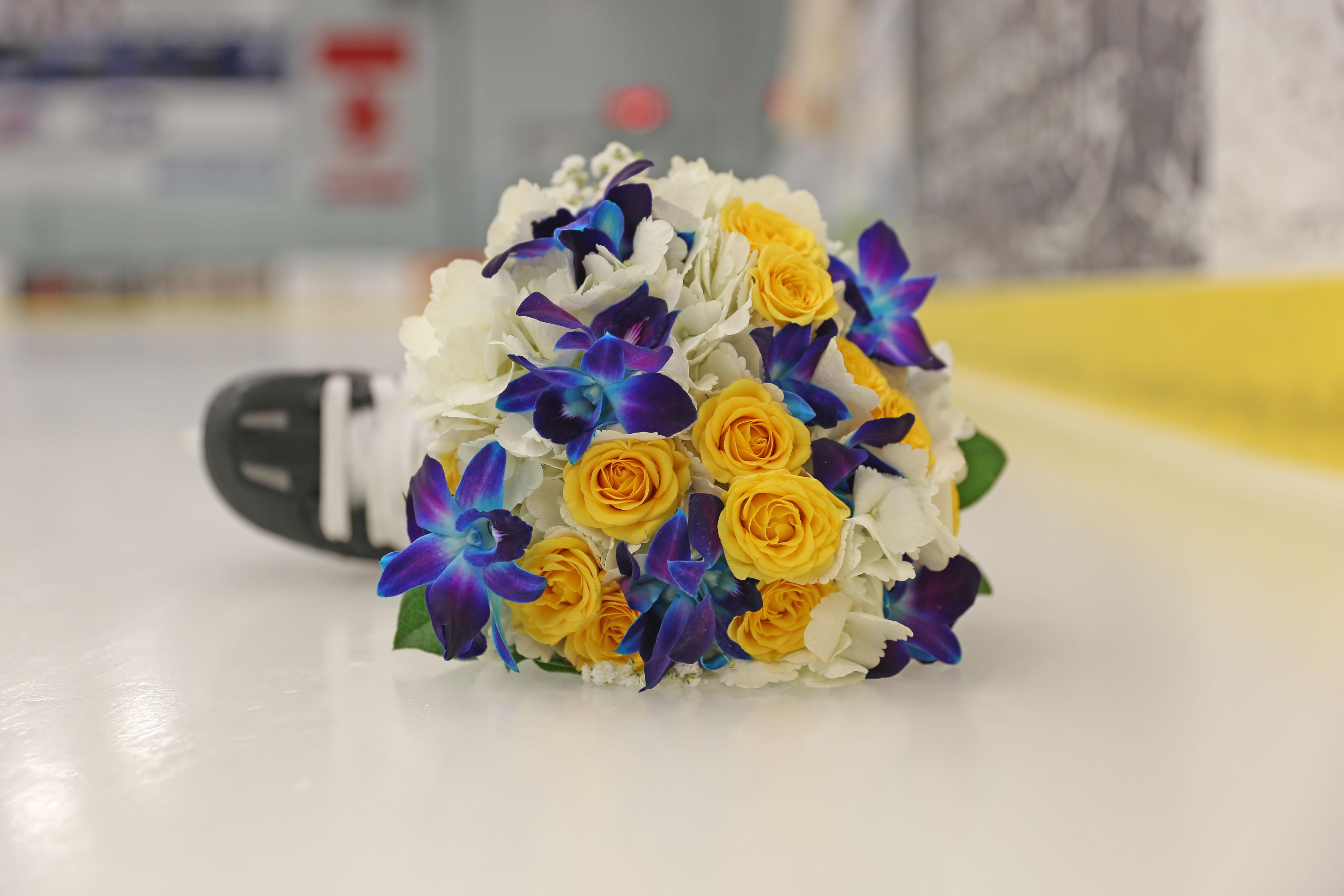 Flowers on Hockey Rink