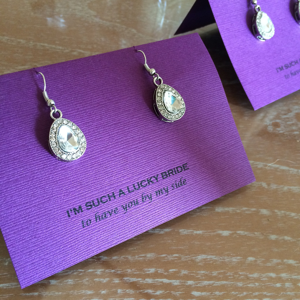 Earring Photo Gifts for Bridesmaids