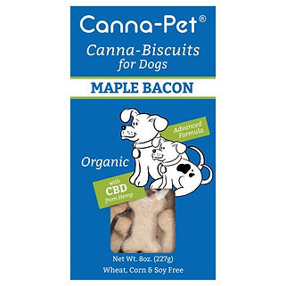Canna-pet. Canna-biscuits for dogs. Advanced formula. Maple Bacon. Organic.