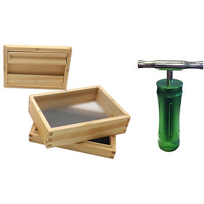 Green goddess combo. Pine sifter box & pollen press.