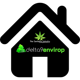 Black icon house displaying The Cannabis Industry (Pty) LTD above the D9E linear logo.
