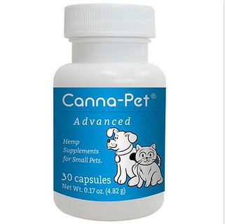 Canna-pet Advanced hemp supplements for small pets. 30 capsules.
