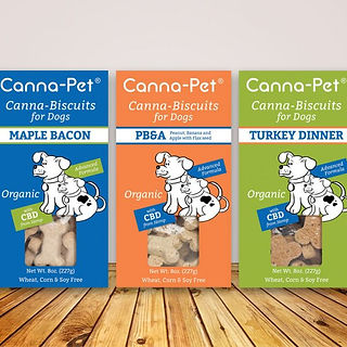 Canna-pet combo. Canna-biscuits for dogs assortment. 3 boxes. Organic.