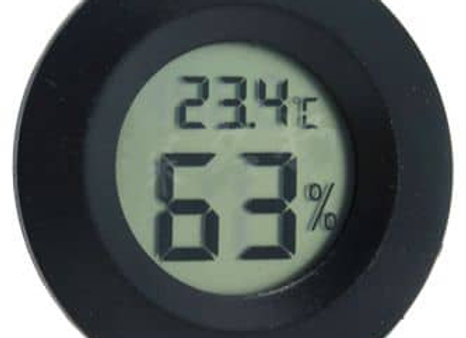 THERMOMETER / HYGROMETER; LCD PANEL MOUNT 170132-BLACK