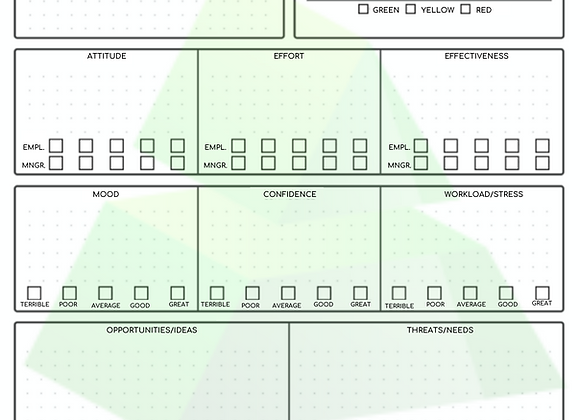 One-On-One Meeting Worksheet