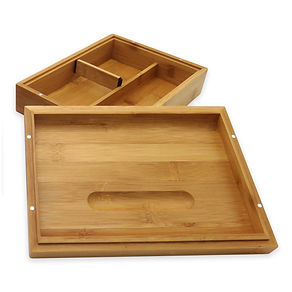 Green goddess. Bamboo storage box with rolling tray lid.