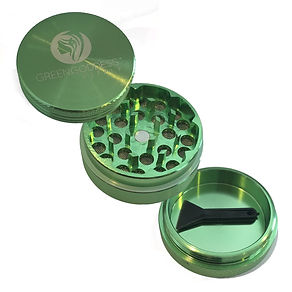 Green goddess. 1.5 inch 3-piece Aluminum grinder. Green.