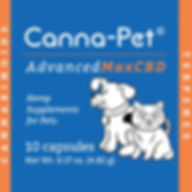 Canna-pet. Advanced Max CBD. Hemp supplements for pets. 10 capsules.