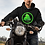 Thumbnail: Adult Unisex Black Hoodie with D9E Logo